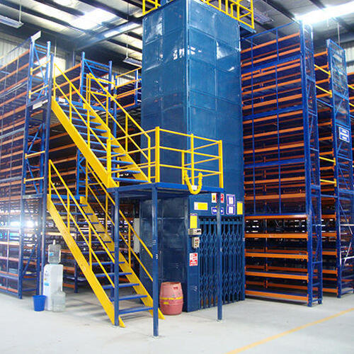 Multi-Tier Racking System with Goods in Modern Warehouse Storage System