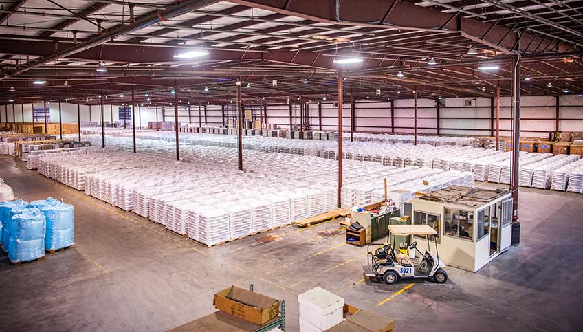 Huge Industrial Warehouse Interior